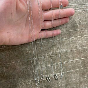 Sterling Silver Lot Of 6 People Necklaces